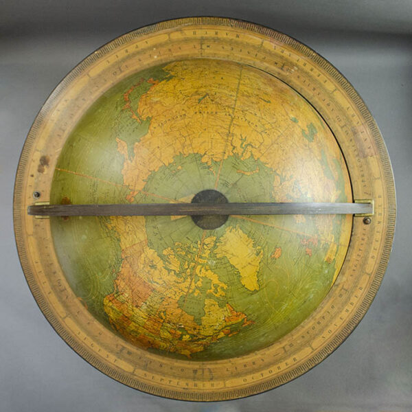 W. & A.K. Johnston/ Kittinger 18-Inch Terrestrial Floor Globe, detail