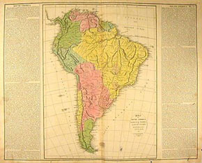 Lavoisne Continent Map, South America