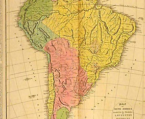 Lavoisne Continent Map, South America, detail