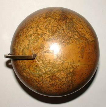 Malby & Son 6-Inch Terrestrial Table Globe, detail