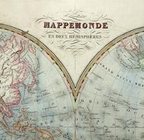 World Map, Double Hemisphere, Mappemonde en Deux Hemispheres