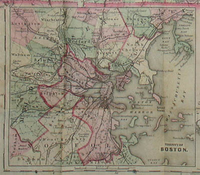 Pocket Map of Massachusetts and Rhode Island