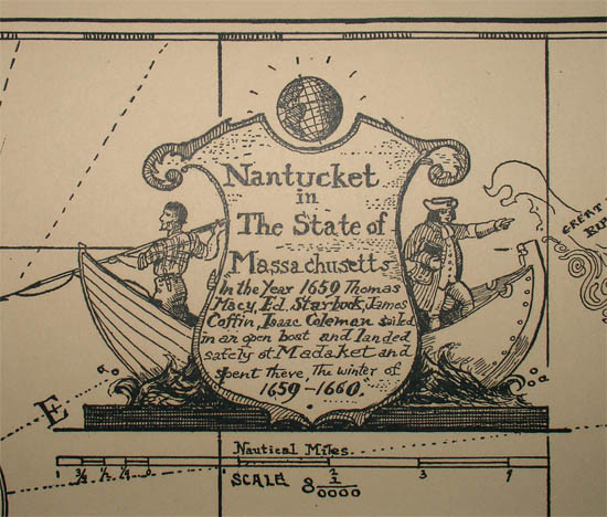 Pictorial Map, Nantucket in the State of Massachusetts, detail