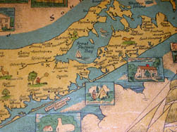 Pictorial Map, Long Island