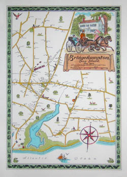 Pictorial Map, Bridgehampton
