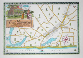Pictorial Map, East Hampton