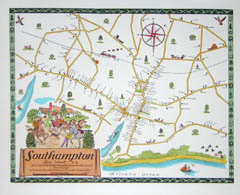 Pictorial Map, Southampton