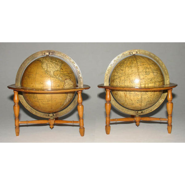 Pair of Newton 3-Inch Terrestrial and Celestial Pocket Globes