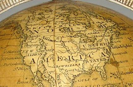 Newton 3-Inch Terrestrial Pocket Globe detail