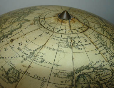H.B. Nims & Co. 12-Inch Terrestrial Table Globe, detail