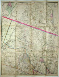 Wall Map, New York Metropolitan Area, 4 Sections