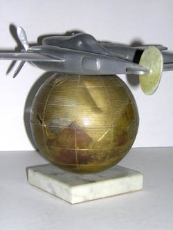 P-38L Airplane with Globe