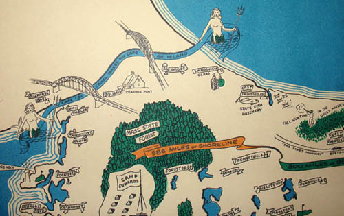 Pictorial Map, Cape Cod
