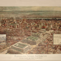 Bird's-eye View of Pennsylvania Station, New York City
