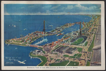 Bird's-eye View, 1933 Chicago World's Fair souvenir postcard