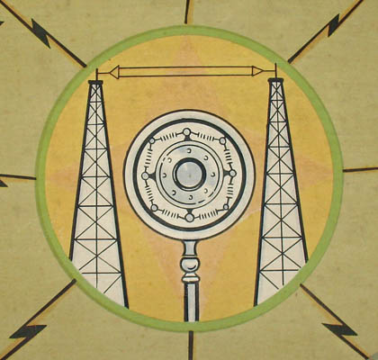 Promotional Short Wave Radio World Map Philco Company: c. 1935-36