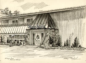 Drawings of Mission Valley, San Diego