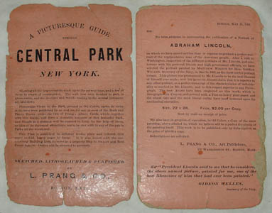 Wall Map, Central Park, Early
