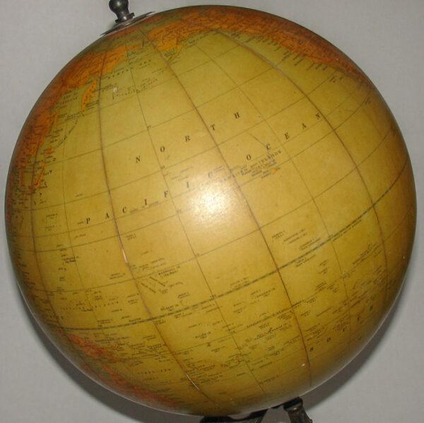 Rand McNally & Company 12-Inch Terrestrial Table Globe, detail
