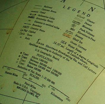 Replogle Globes Inc. 16-Inch Terrestrial Floor Globe, detail