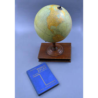 Rand McNally & Company 12-Inch Terrestrial Table Globe with Atlas