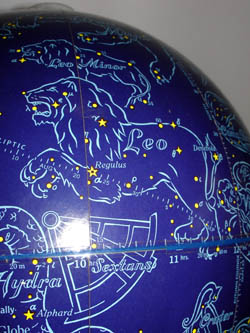 Rand McNally & Co. 12-Inch Celestial Table Globe, detail