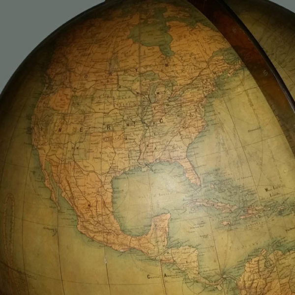 W. & A.K. Johnston/ Rand McNally 30-inch Terrestrial Floor Globe detail