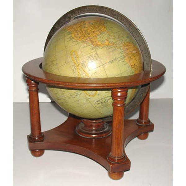 Globe table 8 inch diameter terrestrial world 4 leg for 11 inch table