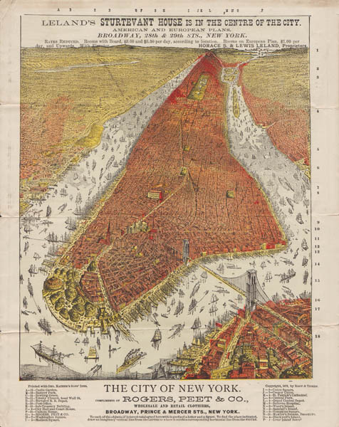Bird's-eye View, New York City, Front