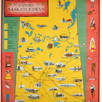 Pictorial Map, Historic Saskatchewan