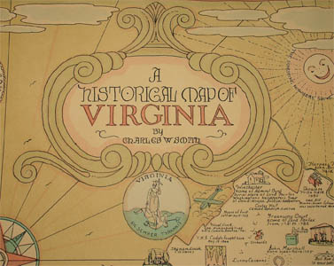 Pictorial Map, Historical, Virginia