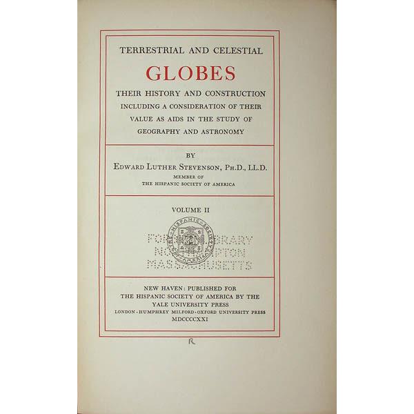 Stevenson, Terrestrial and Celestial GlobeStevenson, Terrestrial and Celestial Globes, title page