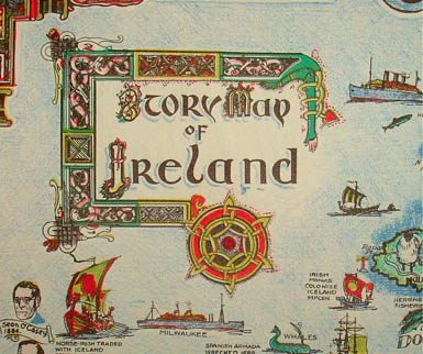 Pictorial Map, Story Map of Ireland