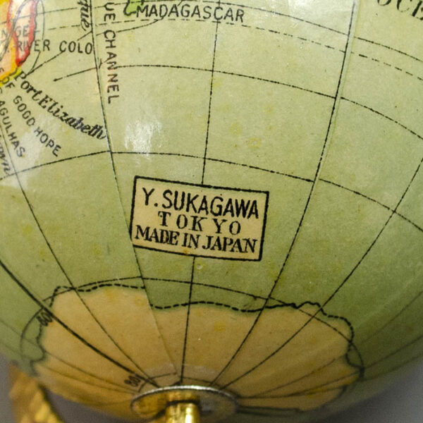 Y. Sukagawa 3-Inch Terrestrial Table Globe, detail
