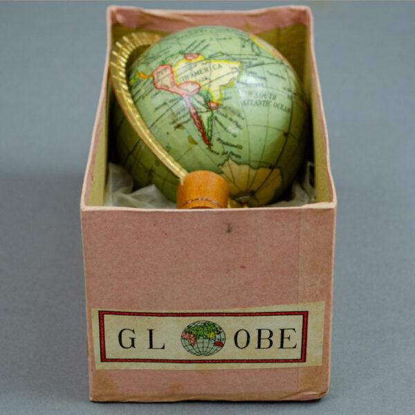 Y. Sukagawa 3-Inch Terrestrial Table Globe in box