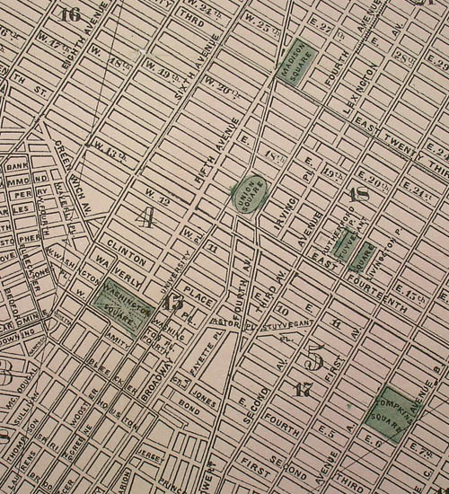 Map, New York City, New Map of the Great Metropolis