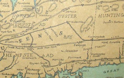 Detail of main map