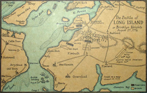 Inset map of The Battle of Long Island