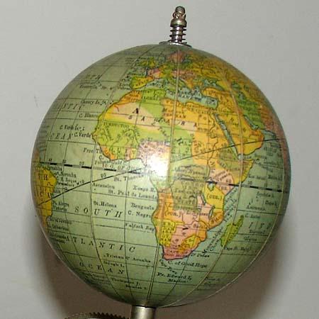 Tellurian earth globe