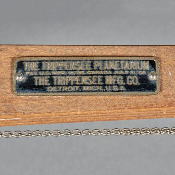 Trippensee Tellurian, c. 1910, detail