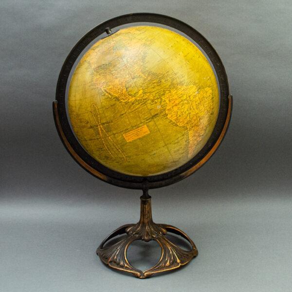 Weber Costello Co. /G.W. Bacon & Co., Ltd. 12-inch Terrestrial Table Globe
