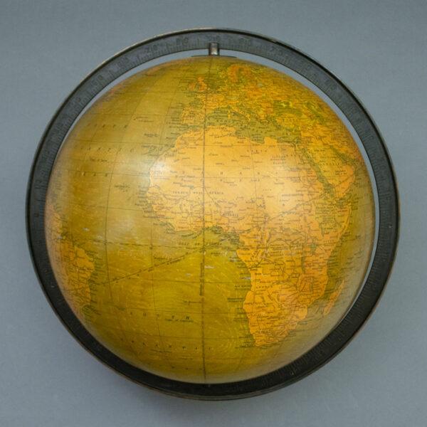 Weber Costello Co. /G.W. Bacon & Co., Ltd. 12-inch Terrestrial Table Globe, detail
