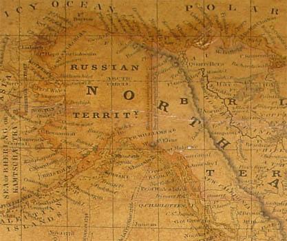 Alaska is labeled Russian Territory.