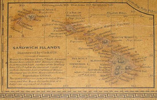 Inset map of Sandwich Islands (Hawaii)