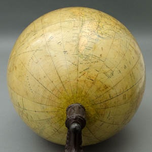 L. Windels 12.75-inch Table Globe, Globe Terrestre, detail