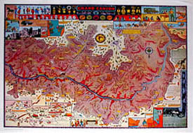 Jo Mora Grand Canyon map