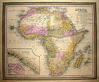 Map Of Africa 1850.Maps Set United States And Continents Mitchell S New Universal