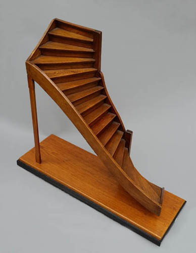 Charming Model Staircase, Rectilinear Double Turn