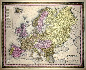 Mitchell's Map of Europe