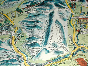 Map, White Mountains of New Hampshire